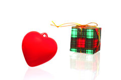 Heart and gift box Royalty Free Stock Image