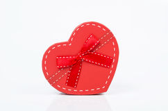 Heart gift box. On white background Stock Photo