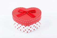 Heart gift box. On white background Stock Photography