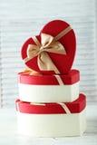 Heart gift boxes Stock Photos