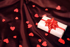 Heart gift decor for valentines day Royalty Free Stock Photography