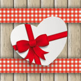 Heart Gift Double Cloth Valentinsday Wood Royalty Free Stock Photo