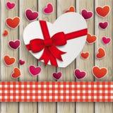 Heart Gift Hearts Cloth Valentinsday Wood Royalty Free Stock Photo