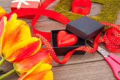 Heart gift Royalty Free Stock Images