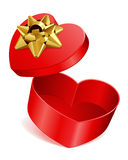 Heart gift present open Royalty Free Stock Photos