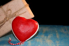 Heart and gift Royalty Free Stock Photos
