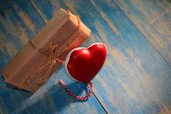 Heart and gift Royalty Free Stock Image