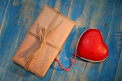 Heart and gift Royalty Free Stock Photography