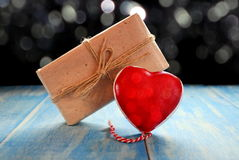 Heart and gift Royalty Free Stock Photo
