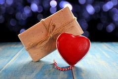 Heart and gift Royalty Free Stock Images