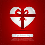 Heart Gift, Ribbon. Abstract background Royalty Free Stock Photos