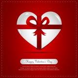 Heart Gift, Ribbon Royalty Free Stock Photos
