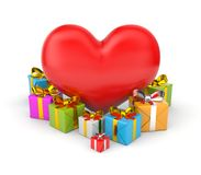 Heart with gifts Stock Photo