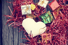 Heart and gifts Stock Photos