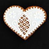Heart gingerbread cookie Stock Images
