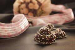 Heart gingerbread cookies stock image