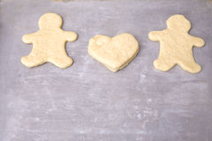 Heart and gingerbread men Stock Image
