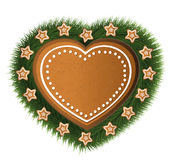 Heart gingerbread star tree Stock Photography