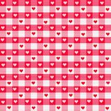 Heart Gingham. Digitally simulated red heart gingham fabric background Royalty Free Stock Photo