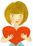 Heart Girl Royalty Free Stock Images