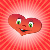 Heart girl character Royalty Free Stock Photos