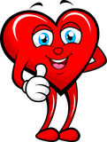 Heart giving thumb up. Vector illustration of heart giving thumb up Royalty Free Stock Photography