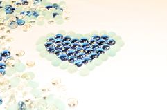 Heart glass Royalty Free Stock Images