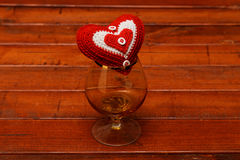 Heart and glass Royalty Free Stock Photos