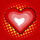 Heart of Glossy Vector Lips. Stock Photos
