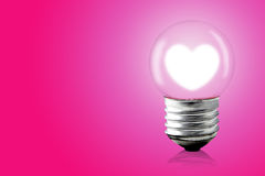 Heart glow inner electric lamp. Royalty Free Stock Image