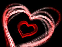 A heart with glowing edges Stock Photo