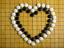 Heart on Go board Stock Photography