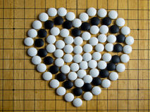 Heart on Go board Stock Photos