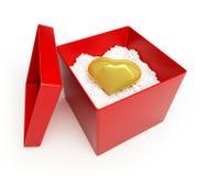 Heart gold Stock Photos