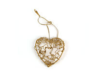 Heart of gold. Heart made of gold Stock Photography