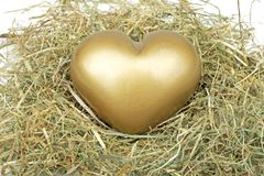 Heart from gold Royalty Free Stock Photo