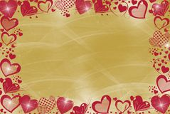Heart On Gold Stock Photography