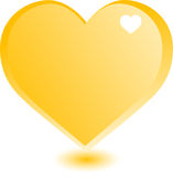 Heart gold Stock Photography