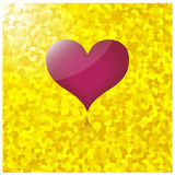 Heart with gold background Royalty Free Stock Image