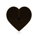 Heart of gold and black Royalty Free Stock Photography
