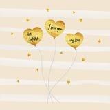 Heart Gold Card1 Royalty Free Stock Photos