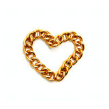 Heart from gold chain Royalty Free Stock Photo