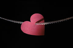 Heart And Gold Chain Royalty Free Stock Images