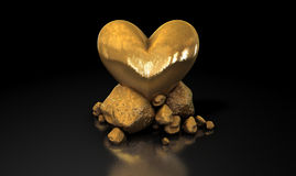Heart Of Gold Royalty Free Stock Image