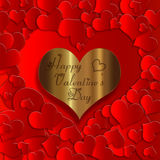 Heart gold collection. Heart red for Valentine`s day royalty free illustration