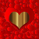 Heart gold  collection Royalty Free Stock Image