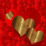 Heart gold  collection Royalty Free Stock Images