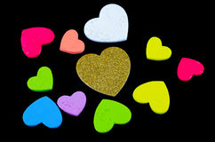 Heart of gold colors Black background Royalty Free Stock Photography