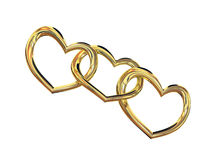 Heart gold costume jewellery Stock Photography