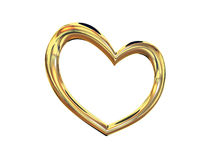 Heart gold costume jewellery Royalty Free Stock Image